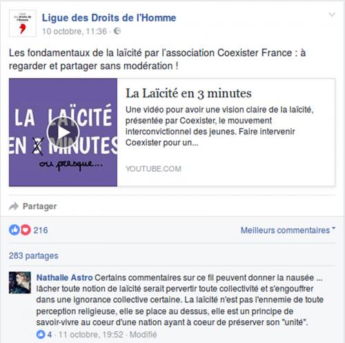 Athéisme, Censure, laïcité, Ligue_des_Droits_de_l'Homme, religions
